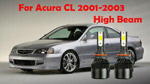 LED ForAcura CL 2001-2003 Headlight Kit 9005 HB3 6000KWhite CREE Bulbs HIGH Beam