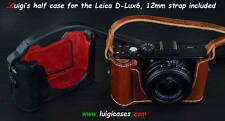 LUIGI's CASE for LEICA D-LUX6,WITH MY BUILT-IN-GRIP,HANGING REAR DOOR,STRAP,UPS.