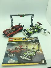 LEGO LEGO #8898 WORLD RACERS-Wreackage Road  100% complete,missing some stickers