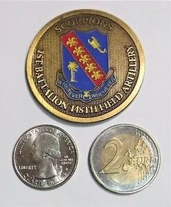 Challenge Coin - US Army - 1st Battalion - 148th Field Artillery - Scorpions - P