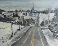 Quebec Winter Scene, 8x10 Oil Painting, Darlene Young Canadian Artist