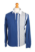 Vintage Nautica Jeans Co. Rugby Sweatshirt Shirt Long Sleeve MEN M Navy - PT1049