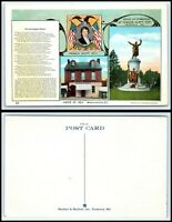 WASHINGTON DC Postcard - Francis Scott Key, Home, Grave & Memorial A8