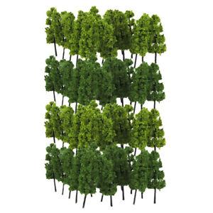 20x Model Trees Garden Park War Game Scene Layout 6.3cm 1:200 N / Z Gauge
