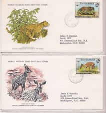 GAMBIA 1976 FIRST DAY COVER WORLD WILDLIFE FUND WITH CARDS