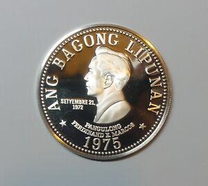 PHILIPPINES : SILVER 50 PISO 1975. UNC. 0.925 SILVER. KM 212