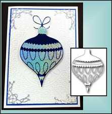 Christmas Ornament Die - COLETTE - Memory Box dies - 98379 - Holidays,tear drop