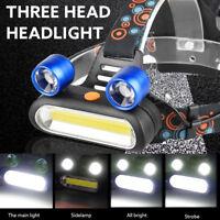 15000LM 2x XM-L T6 LED +COB Rechargeable Headlamp Head Light Torch Flashlight_HK