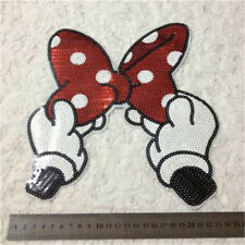 Embroidered Iron On Patches Bowknot Sequins Deal Clothing DIY Applique TSCA