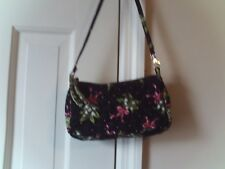 VERA BRADLEY LADIES VERY SMALL SHOULDER BAG QUILTED NAVY PINK GREEN FLORAL