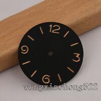 38.9mm black sandwich sterile dial orange ETA 6497 6498 parnis watch 005