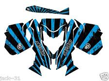 NG RACING SKI-DOO REV XM SUMMIT SNOWMOBILE SLED GRAPHIC KIT WRAP BLUE 13 - 2015