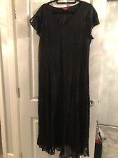Together Black Lace Midi Dress Size 18