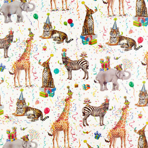 """Party Animals Gift Wrap Roll - 5 Feet x 30"""""""