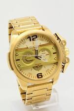 NEW Diesel Men's Chronograph Ironside Gold Tone Stainless Steel Bracelet Watch