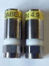 2 RG6 Tipo F Compresión Snap sello de enchufe conector 4.9