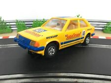 Scalextric Car Ford Escort XR3i Yellow SupaSnaps C446 With Lights & New Rears