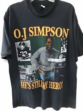 Vintage Rare OJ Simpson Rap tee T Shirt Large Black Knife Photo Back Print OG