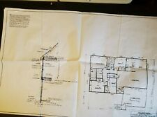 Blueprint House Plan  2-story Vintage