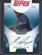 RAFAEL DEPAULA 2013 BOWMAN STERLING BLUE REFRACTOR ON CARD PROSPECT AUTO #D /25