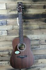 Ibanez Aw54Lopn Lefty Mahogny Dreadnought Acoustic Guitar - Cracked Top #R5511
