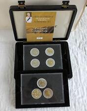 QEII 1953 - 1981 7 Colección CORONA en capas en plata y acentuado en oro 22 CT