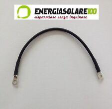 Câble de branchement batterie 16mm2 de 35cm cosses M8 sertis solaire
