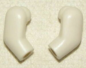 LEGO White Arms Minifigure parts Both left and right arms 2 Arms Total