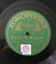"RARE 78RPM 12"" ZONOPHONE LIGHT OPERA COMPANY VOCAL GEMS FROM GONDOLIERS PT 3/4"