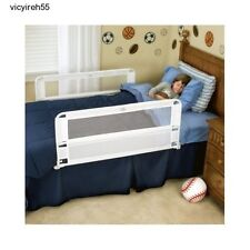 Two Side Safety Bed Rails Hide Away Chlid Guard Kids Crib Toddler Regalo Slide 2