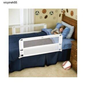 Two Side Safety Bed Rails Hide Away Chlid Guard Kids Crib Toddler Regalo Slide 2