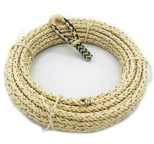 68 Foot 4 Strand Lariat Lasso Rodeo Rope With Black Rawhide Hondo Set