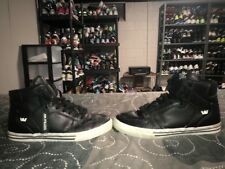Supra FTWR CO Hightop Mens Leather Athletic Skateboarding Shoes Size 11 Black