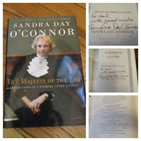 SIGNED, Sandra Day O'Connor, Majesty of the Law, Inscribed Autograph,1st Edition