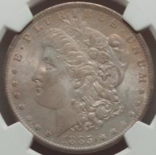 1885-O Morgan Dollar NGC MS66 Matte Fields, Much Amber, Steel Gray Tone
