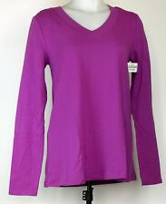 NEW NWT A.N.A. A New Approach Orchid Purple Maternity L/S Knit Shirt S