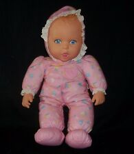 "16"" VINTAGE 1994 TOY BIZ GERBER BABY GIRL DOLL STUFFED ANIMAL PLUSH PINK PJ'S"