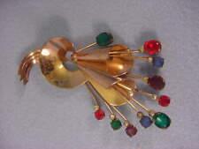Vintage Coro Craft Deco Flower Spray Pin Nice