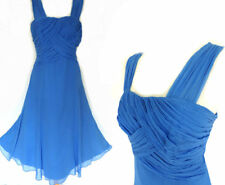 MONSOON SILK DRESS • BLUE • STRAPPY FIT & FLARE • COCKTAIL • OCCASION • 14