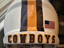 Cowboys 3D Bumpers Helmet Decals Riddell Schutt Wyoming Football 3-D Large New