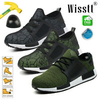 Men's Safety Shoes Steel Toe Anti slip Trainers Work Boots Sports Hiking Shoes