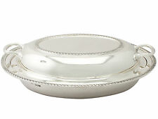 Plata Esterlina entree Plato-Antiguo George V