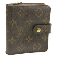 LOUIS VUITTON Monogram Compact Zip Bifold Wallet M61667 LV Auth 15051