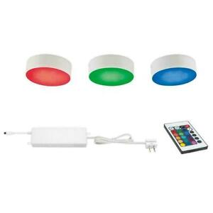 Commercial Electric 3-Light RGBW LED Puck Light Kit