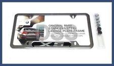 Genuine BMW Polished Stainless Steel License Plate Frame Chrome OEM 82120418629