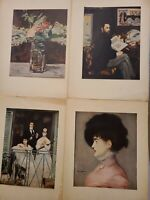 Vintage 1950/60s EDOUARD MANET Museum Prints - Lot of 4