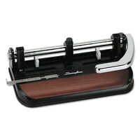 "Swingline 40-Sheet Heavy-Duty Lever Action 2-to-7-Hole Punch 11/32"" Hole Black"