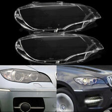 US Pair Headlight Cover Lamp Lens Lampshade Bright  For BMW X5 E70 2008-2013