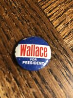 """Vintage WALLACE for President Metal Political/Election Button Pin .75"""""""
