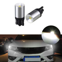 2x CREE White T10 LED Bulbs For Car Parking Positon Lights 168 194 2825 W5W New